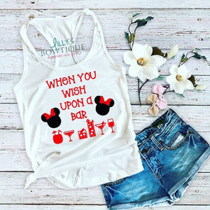 When you wish upon a bar Minnie inspired tank