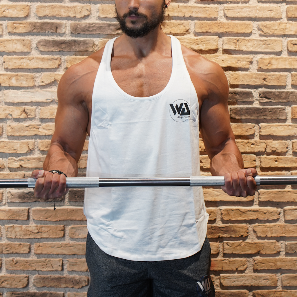stringer blanc musculation