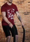 T-Shirt Bordeaux - Bear Mud