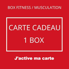 activation carte cadeau box fitness