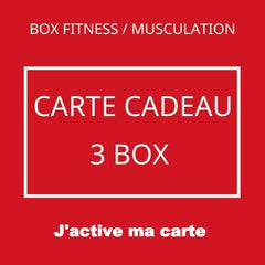 VALIDATION BOX FITNESS CARTE CADEAU 3 MOIS