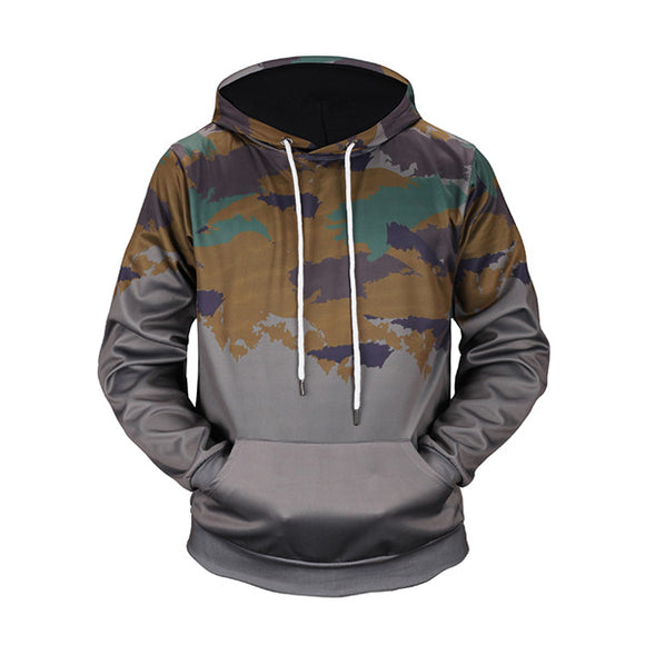 Gray Camouflage Hoodies