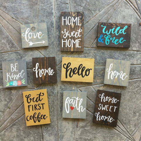 Using Vinyl Decals to Make Rustic Wood Signs – Cutouts Canada