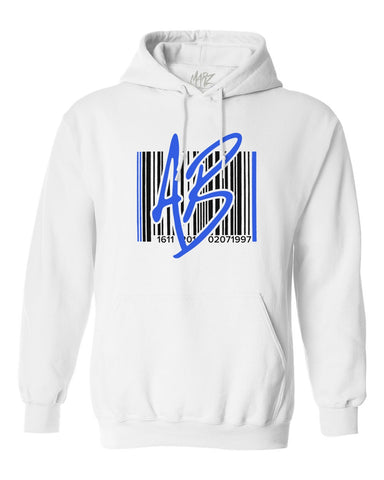 AB Barcode Blue White Hoodie