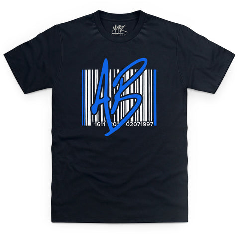 AB Barcode Blue Black T-Shirt