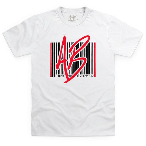 AB Barcode Red White T-Shirt