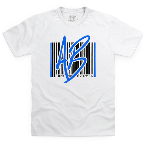 AB Barcode Blue White T-Shirt