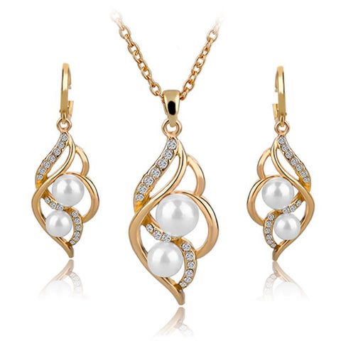 Simulated Pearl Wedding Jewelry Sets