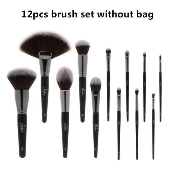 12pcs full professional makeup brush set