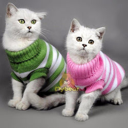 Candy Stripe Cat Sweater