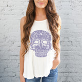 Galaxy Sugar Skull Tank Tops