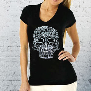 Galaxy Taco Sugar Skull Shirt V-Neck