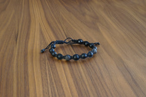 Davido Afnani Knotted Beaded Bracelet Black