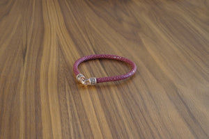 Davido Afnani Exotic Bracelet Stingray Red