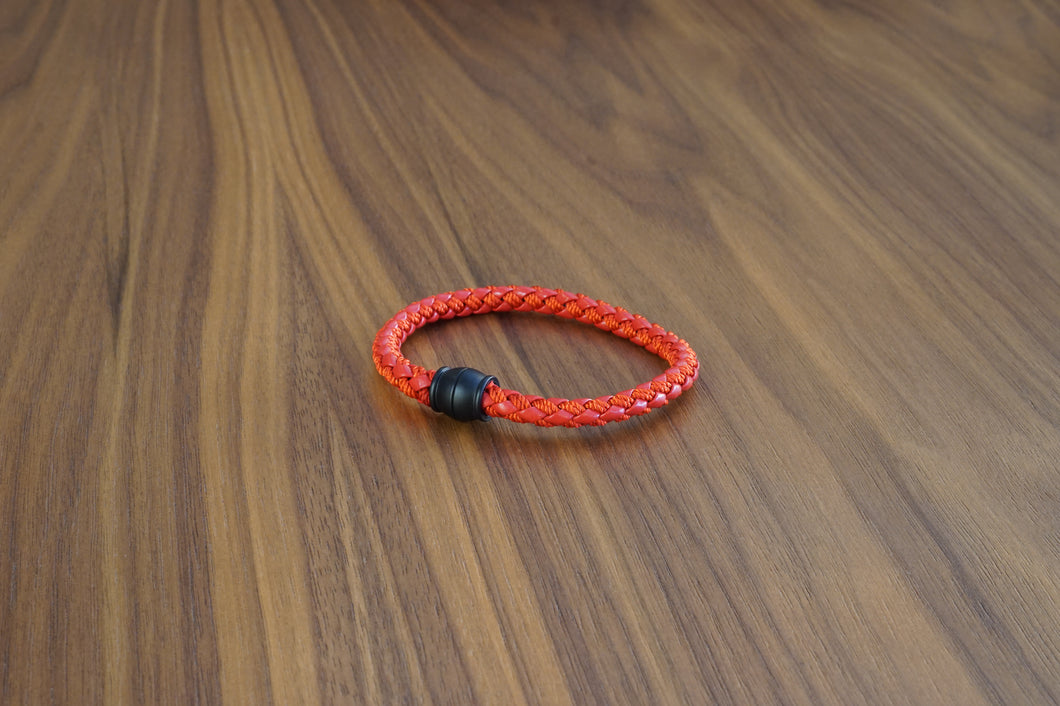 Davido Afnani Leather Bracelet Red
