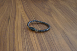 Davido Afnani Leather Bracelet Brown Patina