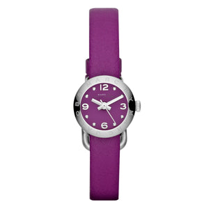Marc Jacobs MBM1252 Mini Amy Dinky Cosmic Purple Silver Leather
