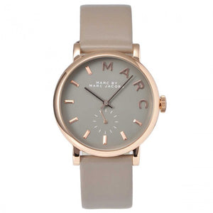 Marc Jacobs MBM1266 Baker Rose Gold Grey Leather Band