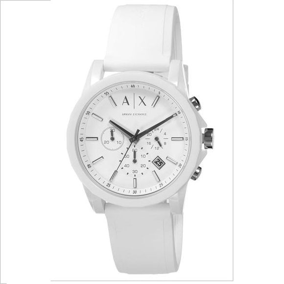 ARMANI EXCHANGE AX1325 Active White Resign Silicone Chrono