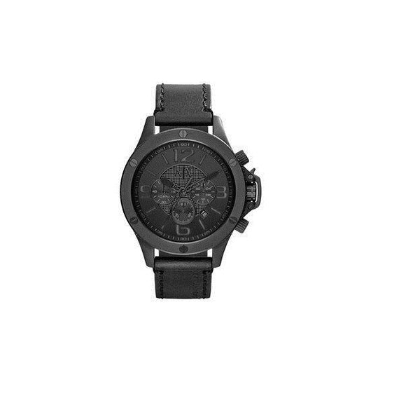 ARMANI EXCHANGE AX1508 Street Black Leather Dial Chronograph