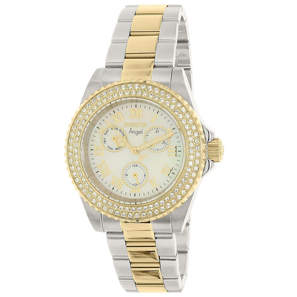 Invicta 17437 Angel Two Tone Silver & Gold Stainless Steel Chronograph