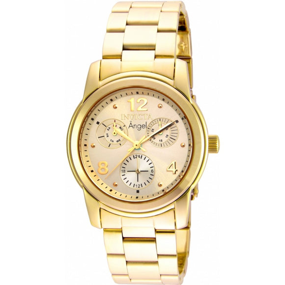 Invicta 19163 Angel All Gold Stainless Steel Chronograph