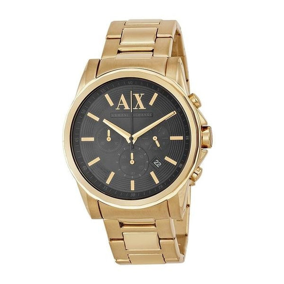 ARMANI EXCHANGE AX2095 Gold Tone Black Dial Chrono