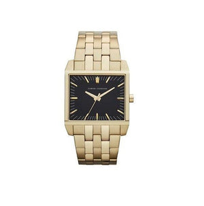 ARMANI EXCHANGE AX2215 Gold Ion Plated Black Dial Square