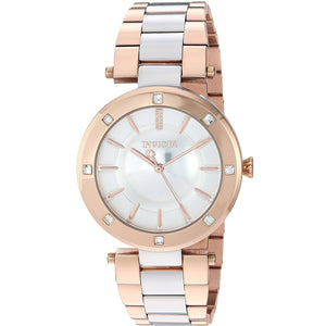 Invicta 23727 Angel Two Tone Silver Rose Gold Stainless Steel