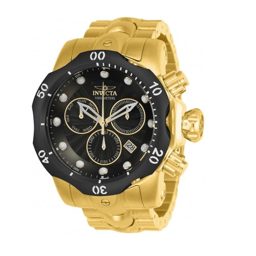 Invicta Venom Gold Black Dial Chronograph