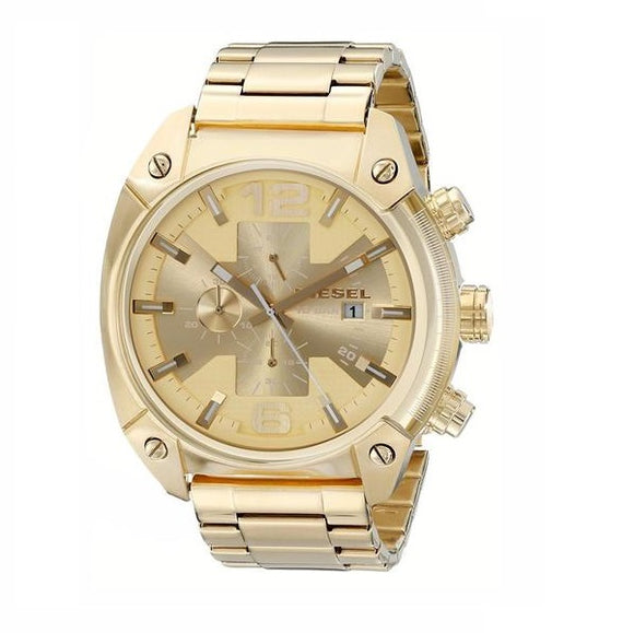 Diesel DZ4299 Overflow All Gold Tone Chronograph Stainless