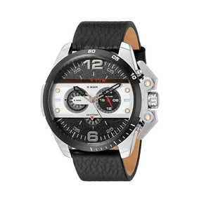 Diesel DZ4361 Ironside Silver Black Leather Black Dial Chronograph