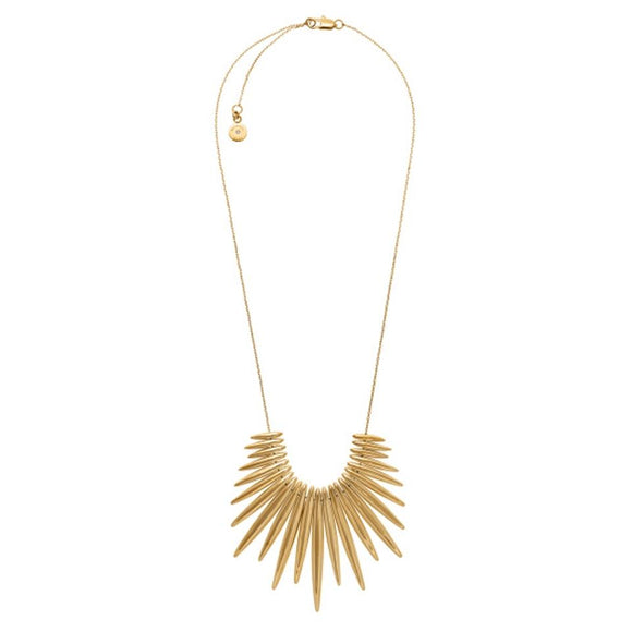 Michael Kors MKJ4507 Tribal Statement Pendant Gold Necklace