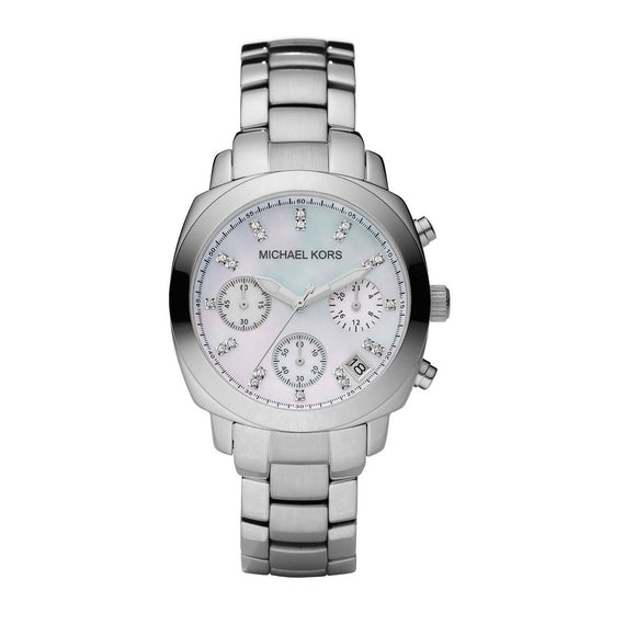 Michael Kors MK5092 Wolcott Silver Chronograph Women Watch