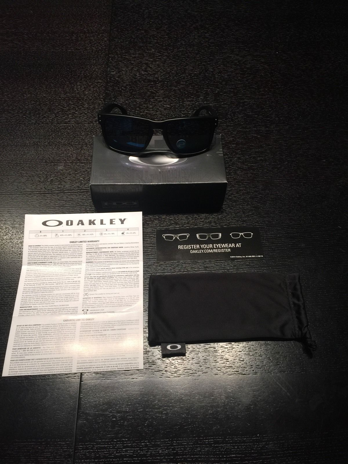 c03173804f ... OAKLEY HOLBROOK oo9102-52 Matte Black Ice Iridium Polarized Sunglasses