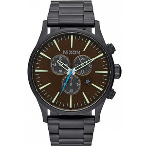 NIXON Sentry Chrono All Black Brass Stainless Steel