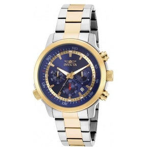 Invicta 19399 Specialty Two Tone Blue Dial Chronograph
