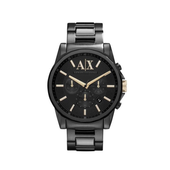 ARMANI EXCHANGE AX2094 Banks All black Gold Accent Chronograph