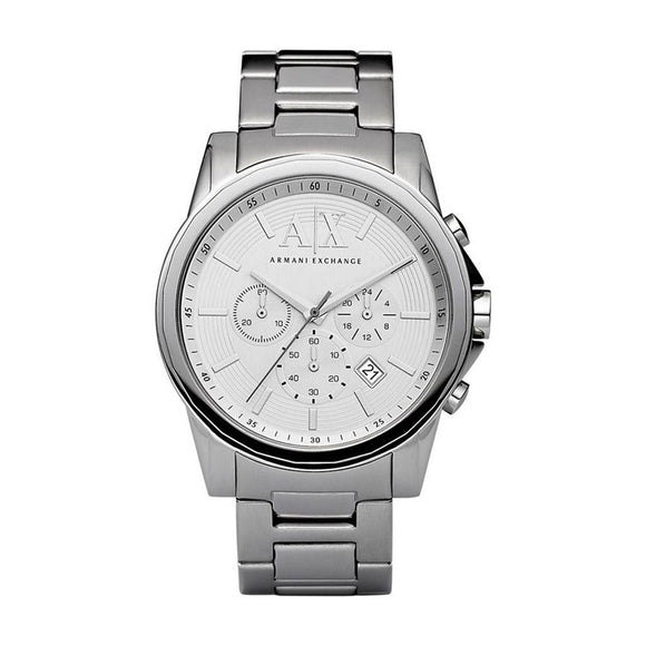 ARMANI EXCHANGE AX2058 Silver Stainless Steel Chronograph Quartz