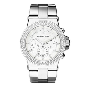 Michael Kors MK5385 Dylan Glitz Silver Chrono Watch