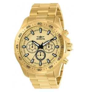 Invicta 22783 Speedway All Gold Chronograph Stainless Steel