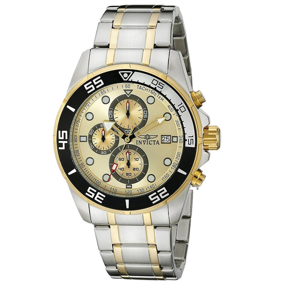 Invicta 17014 Specialty Two Tone Gold Dial Chronograph