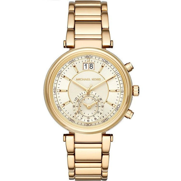 Michael Kors MK6362 Sawyer All Gold Stainless Steel Chronograph