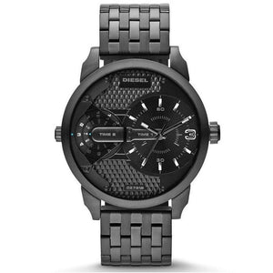 Diesel DZ7316 Mini Daddy Black Dual Time Stainless Steel