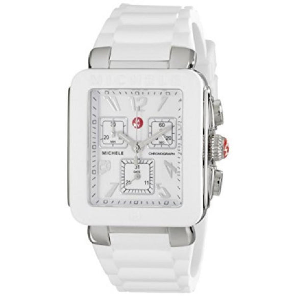 Michele MWW06L000001 Park Jelly Bean Silver White Rubber Band