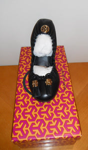 Tory Burch Reese Flat Mestico BLACK 001 Ballerina BRAND NEW BOX FRESH PAIR NWT