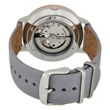 Fossil ME3131 Vintage Muse Rose Gold Grey Leather Automatic Skeleton
