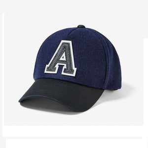 ARMANI EXCHANGE Black Blue Navy A|X Logo Cotton Adjustable Hat