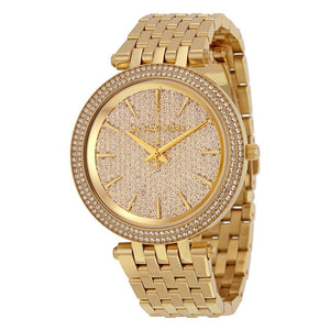 Michael Kors MK3438 Darci Gold Glitz Pave Dial Stainless Steel