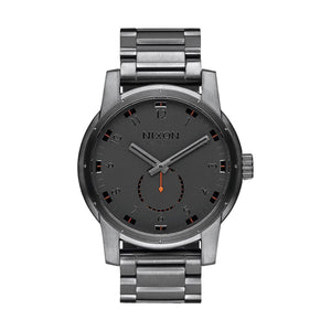 NIXON Patriot All Gunmetal IP Stainless Steel Quartz A937 632